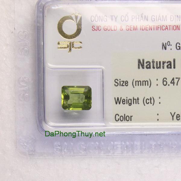 Viên đá peridot ngọc olivin DPERI01.77