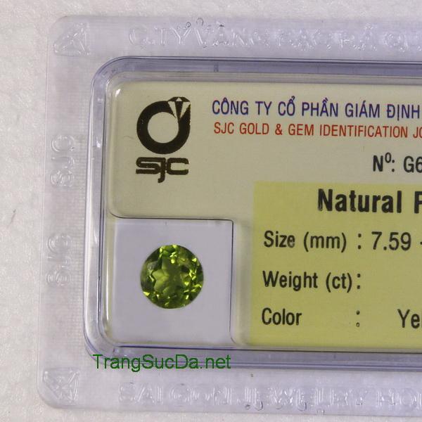 Viên đá peridot ngọc olivin PERI1.82