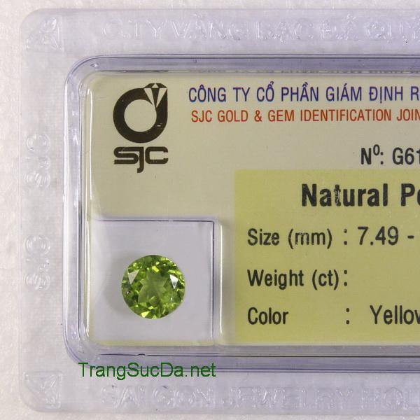 Viên đá peridot ngọc olivin PERI1.86