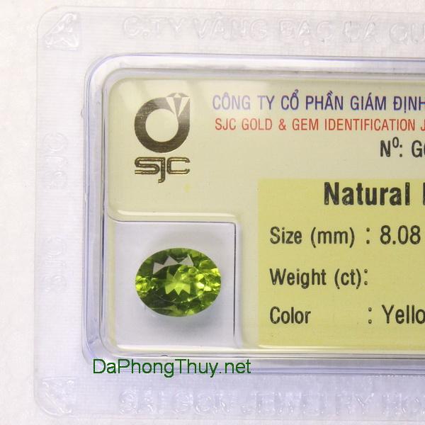 Viên đá peridot ngọc olivin DPERI2.95