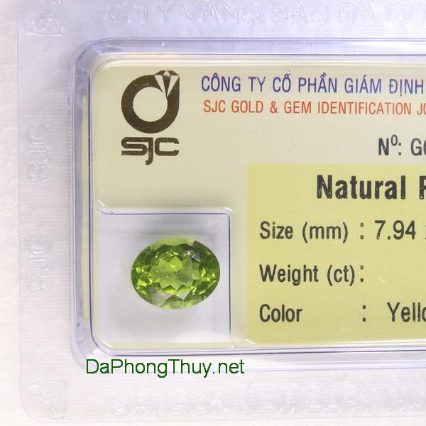 Viên đá peridot ngọc olivin DPERI3.09