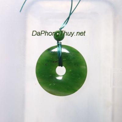 Mặt ngọc bội đá ngọc bích DNBM54