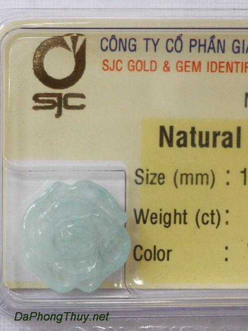 Hoa mẫu đơn đá aquamarine aqua6.43