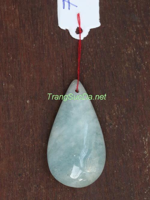 Mặt dây chuyền đá aquamarine aqua7