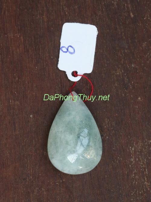 Mặt dây chuyền đá aquamarine aqua8