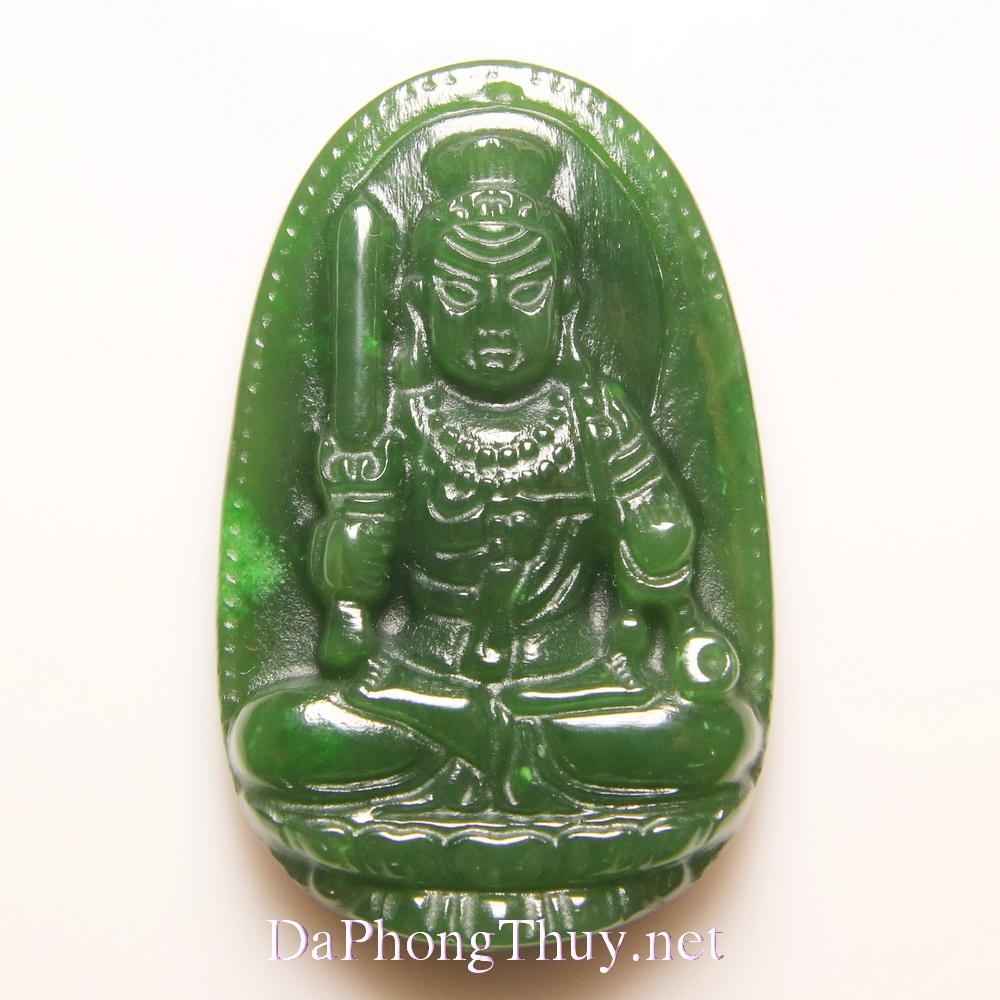 Phật Bản Mệnh tuổi Dậu đá ngọc bích BMNB6