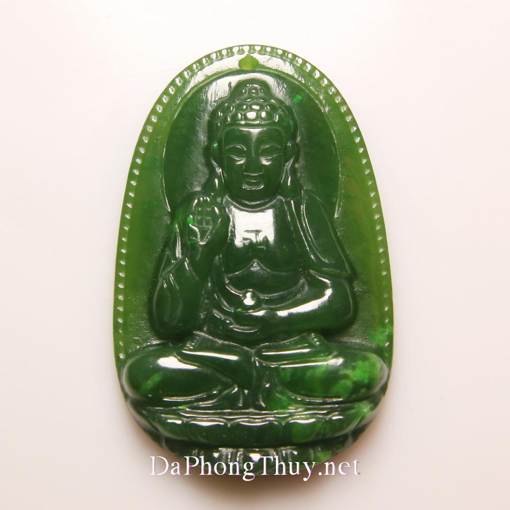 Phật Bản Mệnh tuổi Tuất Hợi đá ngọc bích BMNB5