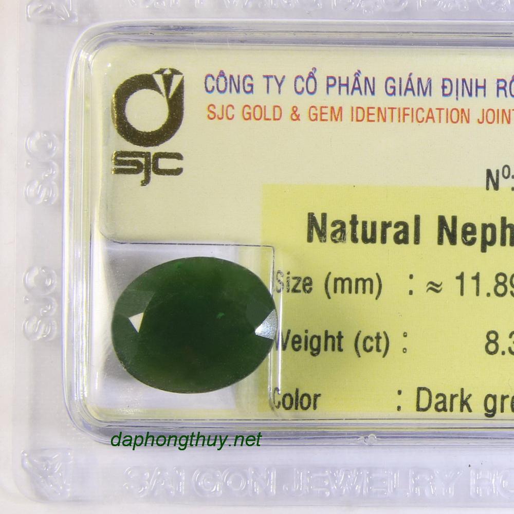 Viên đá mài giác ngọc bích nephrite DNBKD8.36