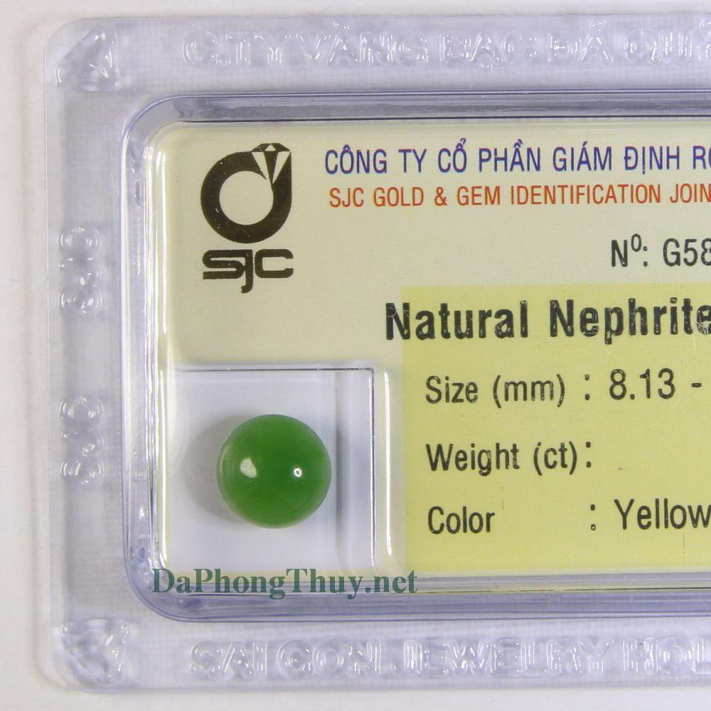 Viên đá ngọc bích nephrite DNBKD1.68
