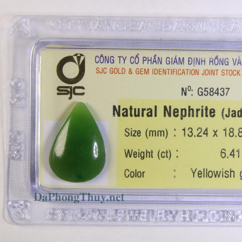 Viên đá ngọc bích nephrite DNBKD6.41
