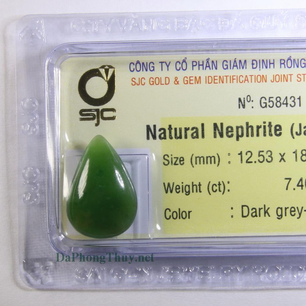 Viên đá ngọc bích nephrite DNBKD7.4