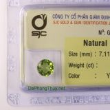 Viên đá peridot ngọc olivin DPERI1.44