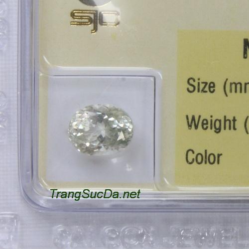 Viên đá phong thuỷ topaz trắng paz2.42