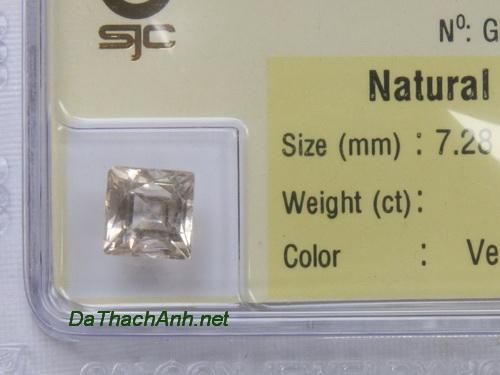 Viên đá phong thuỷ topaz trắng paz3.12