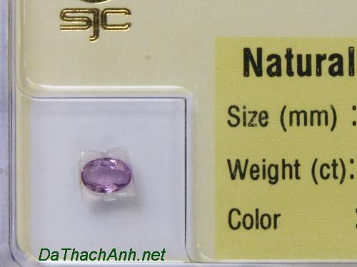 Viên đá sapphire tím SPT0.26