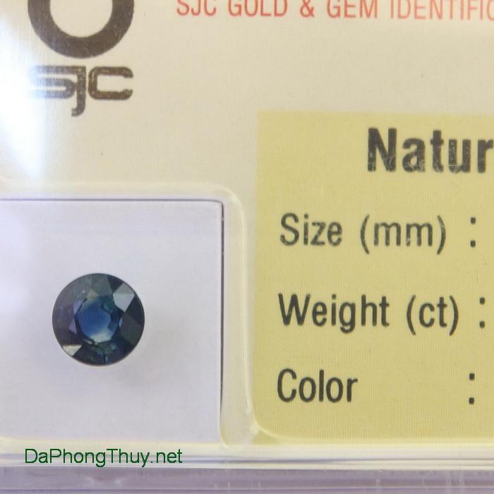 Viên đá sapphire xanh biển spx1.01