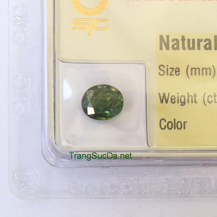 Viên đá sapphire xanh lá cây SPX01.3