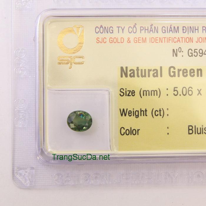 Viên đá sapphire xanh lá cây SPX0.78