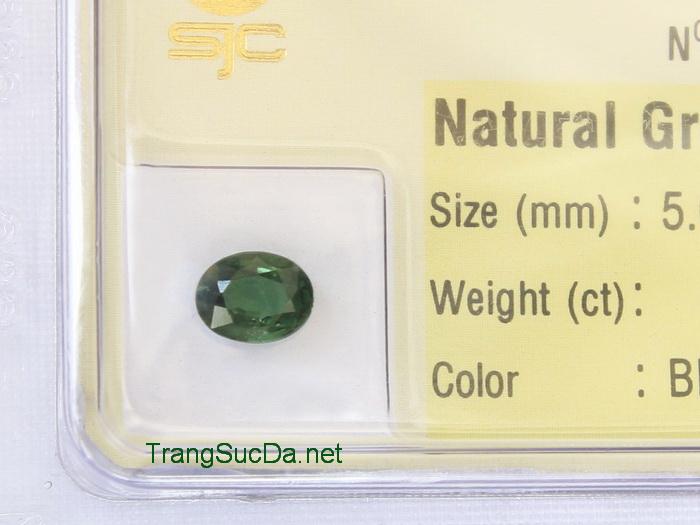 Viên đá sapphire xanh lá cây SPX0.86