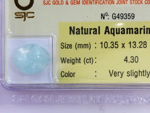Viên ngọc xanh biển Aquamarine AQUA4.3