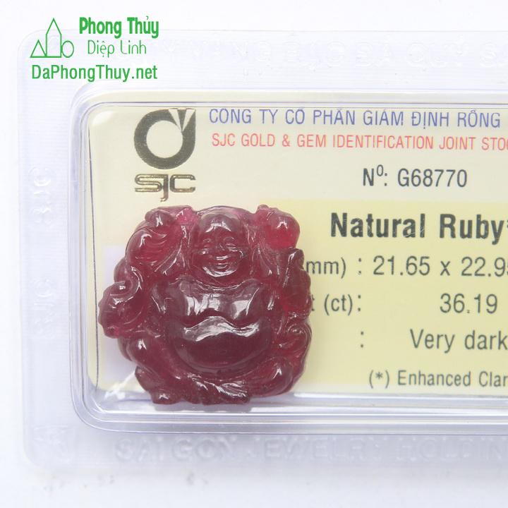 Phật Di Lạc Ruby RBP36.19