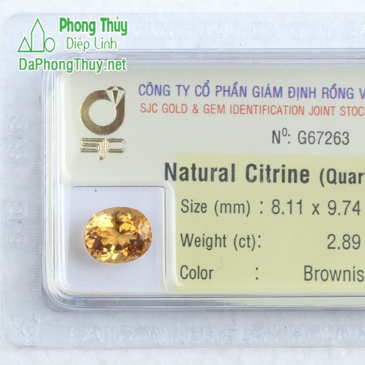 Viên đá kiểm định thạch anh vàng SVM2.89