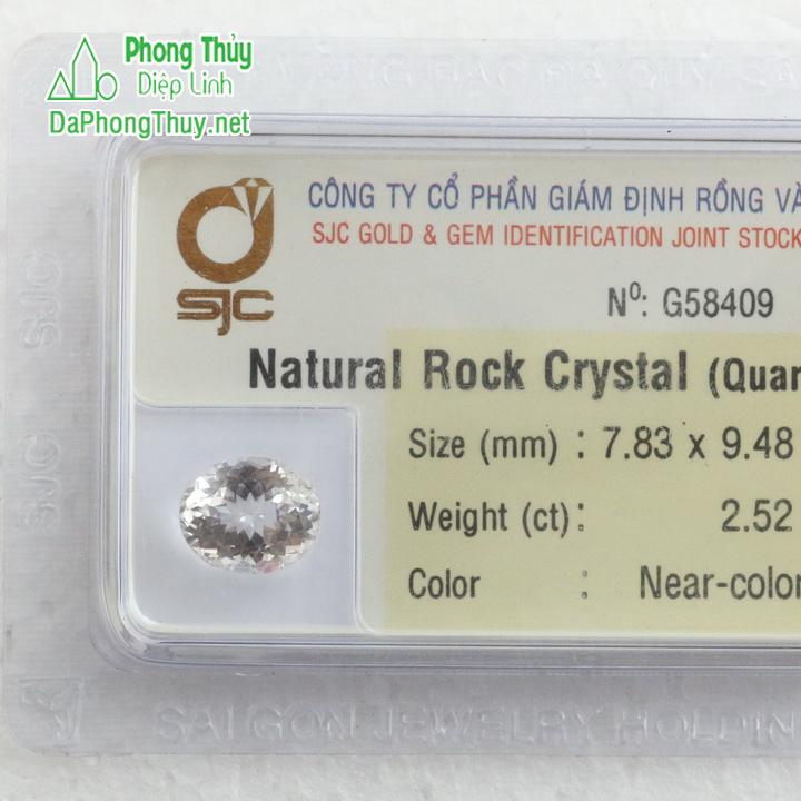 iên đá kiểm định thạch anh trắng TAT2.52