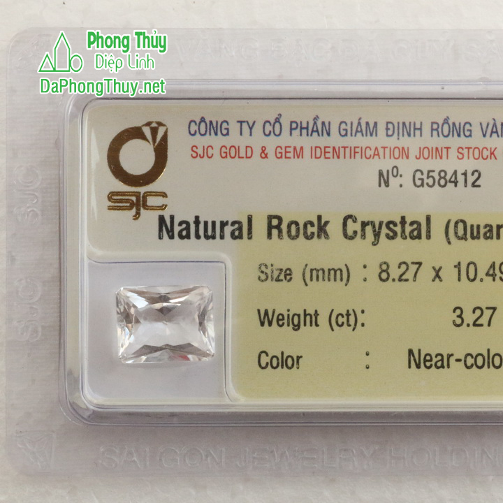 Viên đá kiểm định thạch anh trắng TAT3.27