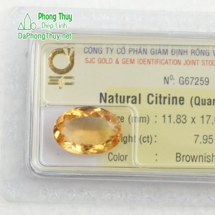 Viên đá kiểm định thạch anh vàng SVM7.95